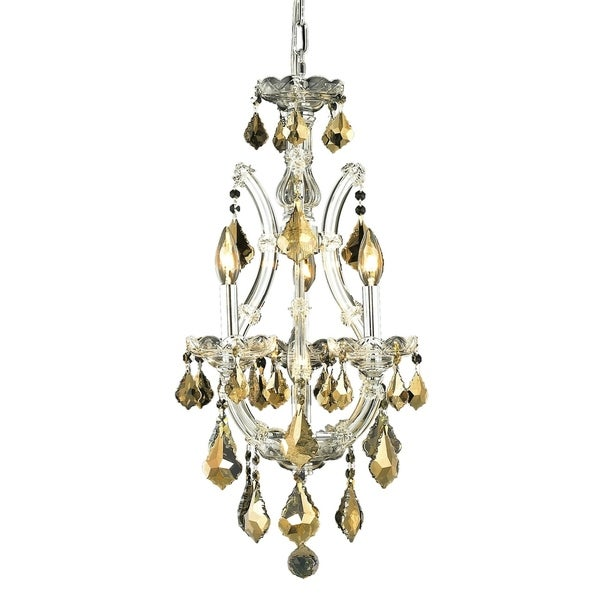 Fleur Illumination Collection Pendant D:12in H:22in Lt:4 Chrome Finish