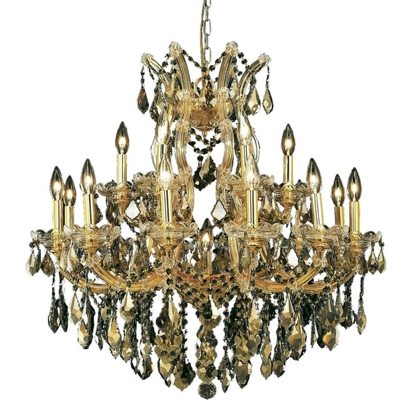 Fleur Illumination Collection Chandelier D:30in H:28in Lt:19 Gold Finish