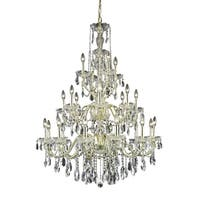 Fleur Illumination Collection Chandelier D:36in H:49in Lt:24 Gold Finish
