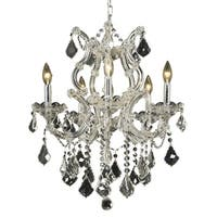 Fleur Illumination Collection 6-Light Chrome Finish Pendant