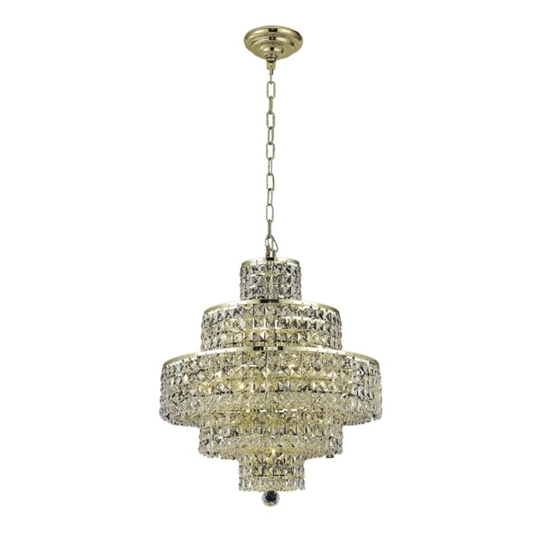 Fleur Illumination Collection Chandelier D:20in H:21in Lt:13 Gold Finish
