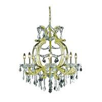 Fleur Illumination Collection Chandelier D:28.5in H:32.5in Lt:8 Gold Finish