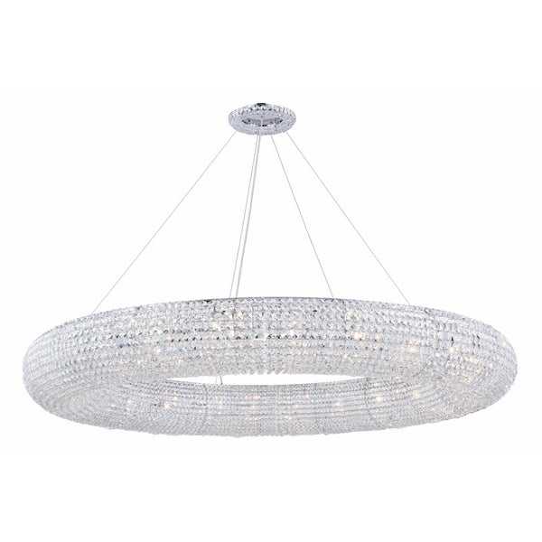 Fleur Illumination Collection Chandelier D:59in H:6.5in Lt:24 Chrome Finish - royal cut crystals