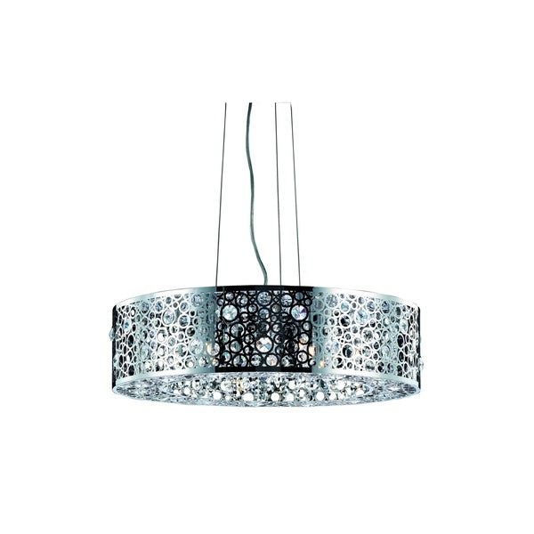 Fleur Illumination Collection Pendant D:24in H:7.7in Lt:8 Chrome Finish - royal cut crystals