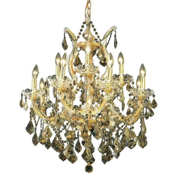 Fleur Illumination Collection Chandelier D:27in H:26in Lt:13 Gold Finish
