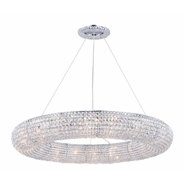 Fleur Illumination Collection Chandelier D:41in H:5in Lt:18 Chrome Finish - royal cut crystals