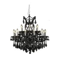 Fleur Illumination Collection Chandelier D:30in H:28in Lt:19 Black Finish