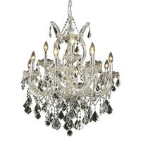 Fleur Illumination Collection Chrome Finish Steel/ Crystal Chandelier