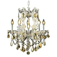 Fleur Illumination Collection Pendant D:20in H:25in Lt:6 Chrome Finish