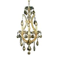 Fleur Illumination Collection Pendant D:12in H:22in Lt:4 Gold Finish