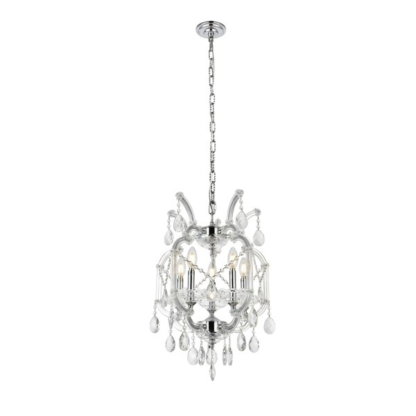 Fleur Illumination Collection Pendant D:15.5in H:23in Lt:5 Chrome Finish