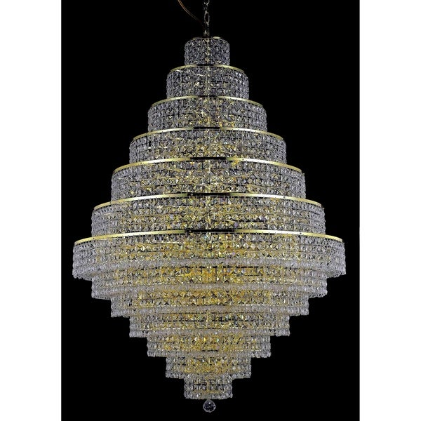 Fleur Collection Chandelier D:42in H:60in Lt:38 Gold Finish