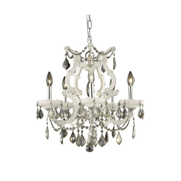 Fleur Illumination Collection Pendant D:20in H:25in Lt:6 White Finish