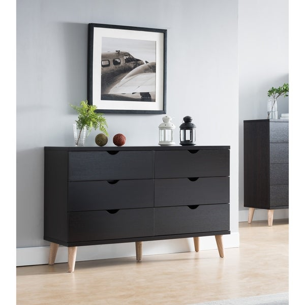 shop carson carrington gjovik contemporary cappuccino 6 drawer dresser on sale free shipping. Black Bedroom Furniture Sets. Home Design Ideas