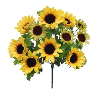 "Link to 22"" Sunflower Bush with 11 Blooms - Yellow Similar Items in Decorative Accessories"