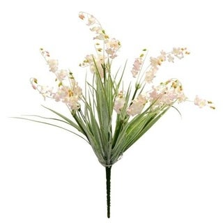 """18"""" Tall Lily Of The Valley Bush With Frosted Green Grass - frosted green"""