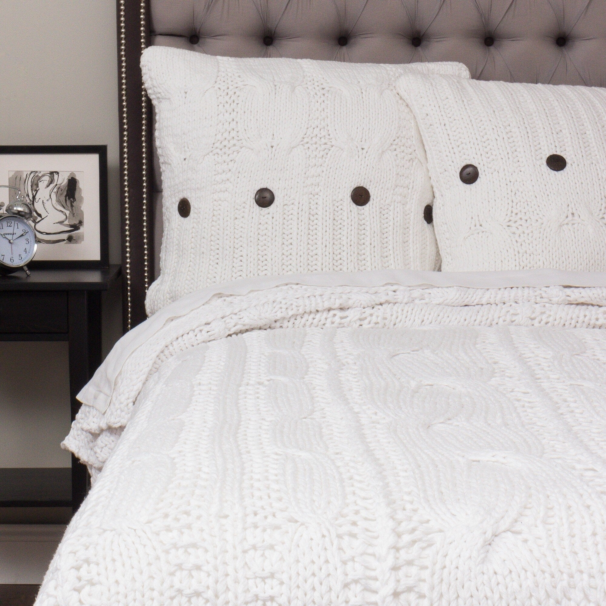 Cottage Home Kable White Coverlet Overstock 20348334