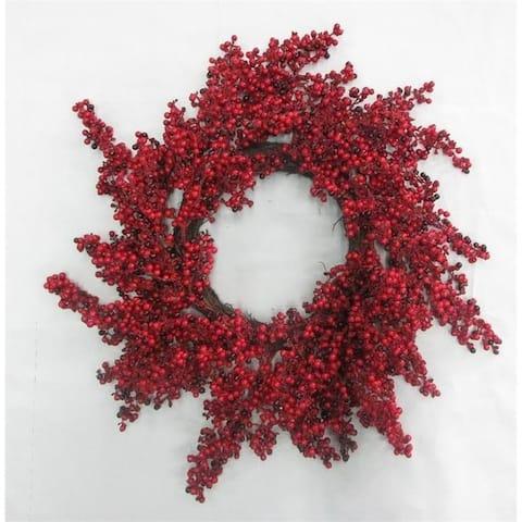 "24"" Waterproof Draping Berry Wreath"