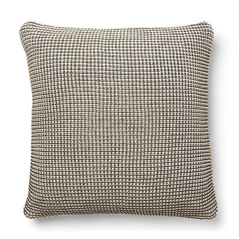 Cottage Home Eagen Knitted Cotton Throw Pillow