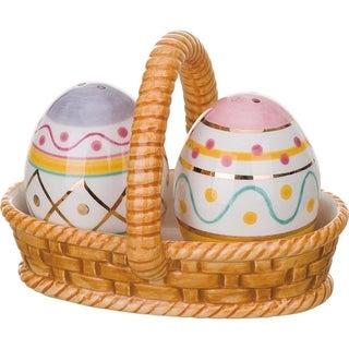 Transpac Easter Egg Basket Salt & Pepper Shaker Set