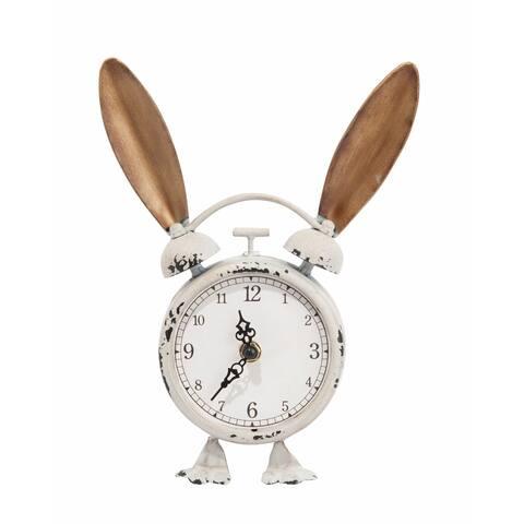 Transpac Metal Bunny Clock