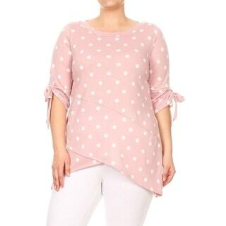 Women's Plus Size Polka Dot Pattern Top