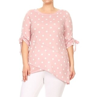 Women's Plus Size Polka Dot Pattern Top