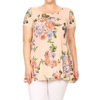 Women's Plus Size Floral Pattern Top
