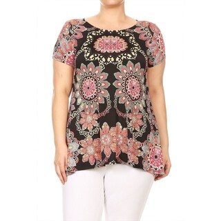 Women's Plus Size Mandala Pattern Top (More options available)