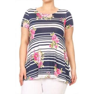 Women's Plus Size Mandala Pattern Top (More options available)