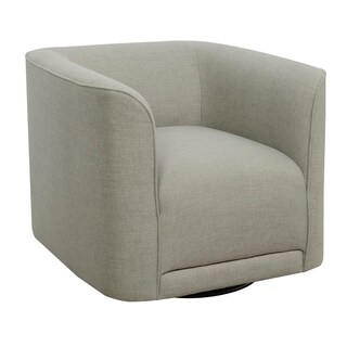 Emerald Home Whirlaway parchment gray swivel accent chair U3272-04-03