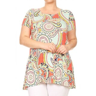Women's Plus Paisley Pattern Top (3 options available)