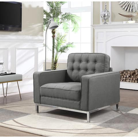 Chic Home Sterling Linen-Upholstered Club Chair