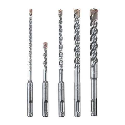 Bosch Bulldog Carbide Tipped SDS Plus Shank Multi Size in. Dia. Hammer Drill Bit 5 pc.
