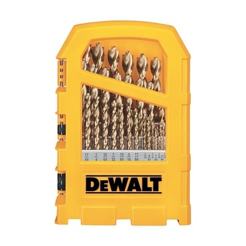 DeWalt Pilot Point High Speed Steel Straight Shank Multi Size in. Dia. Drill Bit Set 29 pc.
