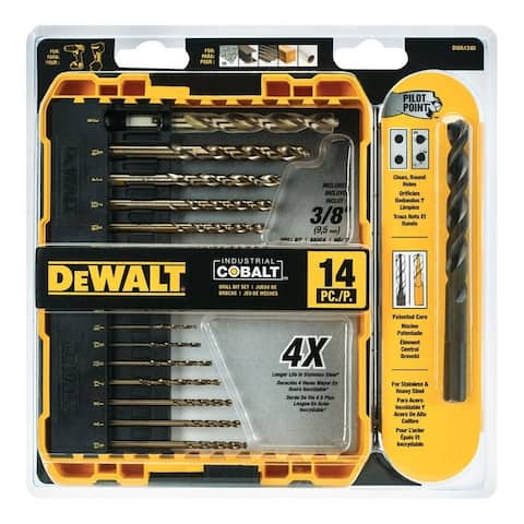 DeWalt Industrial Cobalt Hex Multi Size in. Dia. Cobalt Bit Set 14 pc.