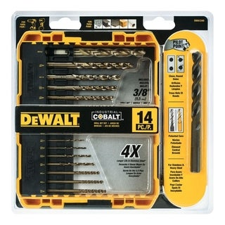 DeWalt Industrial Cobalt Hex Multi Size in. Dia. Cobalt Bit Set 14 pc.