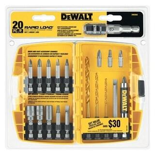 DeWalt Straight Shank Multi Size in. Dia. Drill and Driver Bit Set 20 pc.