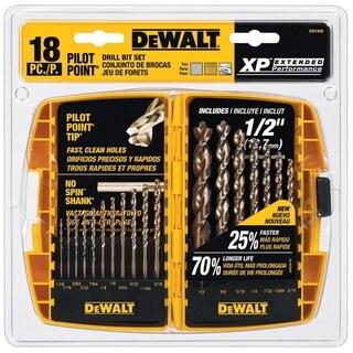 DeWalt Pilot Point Stainless Steel Multi Size in. Dia. Drill Bit Set 18 pc.