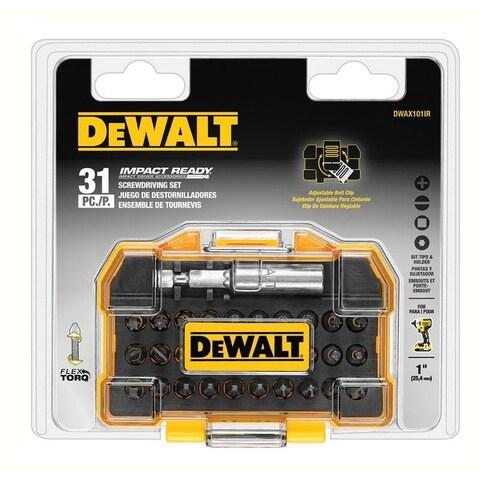 DeWalt Impact Ready Screwdriver Bit 1/4 in. Dia. x 1 in. L 31 pc.