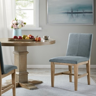 """Madison Park Thurman Blue Dining Side Chairs (Set of 2) - 20.5""""w x 23.75""""d x 33.5""""h"""