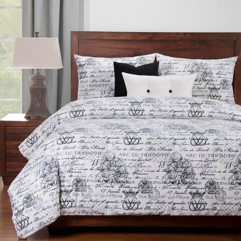 Siscovers Promenade 6 Piece French Script Luxury Cotton Duvet set