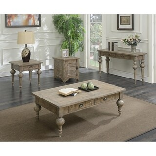 The Gray Barn Willow Way Sandstone Grey Coffee Table with 2 Drawers