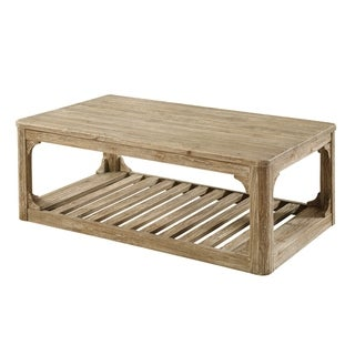 Emerald Home Barnwood honey brown coffee table T121-00