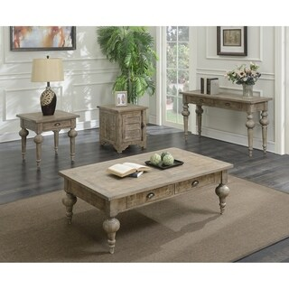 Emerald Home Interlude sandstone gray end table T560-03