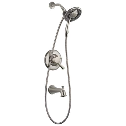Delta Linden Monitor 17 Series Tradtional Tub & Shower Trim with In2ition T17493-I Chrome
