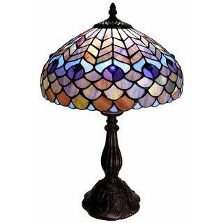 Tiffany-style Peacock Table Lamp
