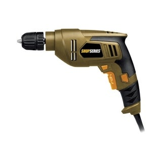 Rockwell Shopseries 4.5 amps 3/8 in. Keyless 3000 rpm VSR Corded Drill Brown