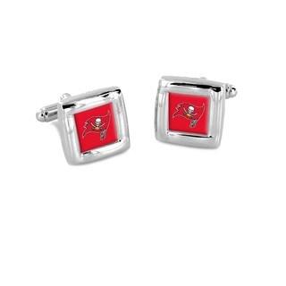 NFL Tampa Bay Bucs Buccaneers Square Cufflinks Wedding Grooms Gift Set