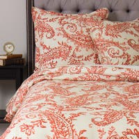 Sierra Orange Linen Duvet Cover
